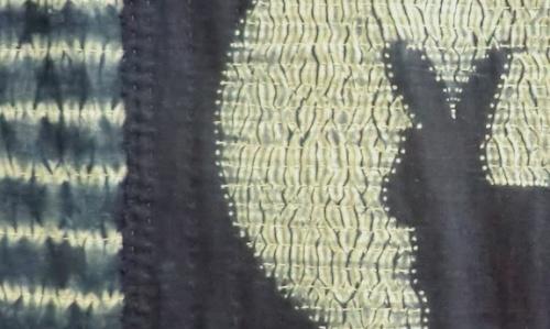 Rabbit & Moon quilt - detail